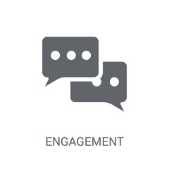 Engagement icon. Trendy Engagement logo concept on white background from Technology collection