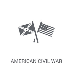 american civil war icon. Trendy american civil war logo concept on white background from United States of America collection