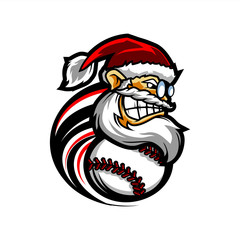Baseball Santa Logo