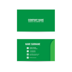 vector Modern simple light business card template with flat user interface on white background