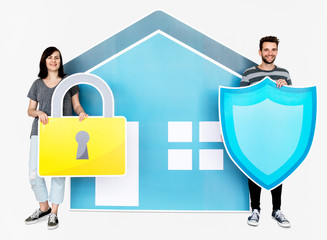 Home security and protection concept shoot