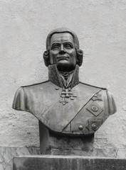Bust of russian admiral Ushakov