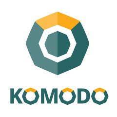 Komodo coin icon, Crypto Currency, Vector