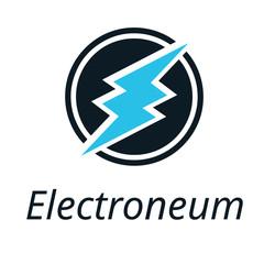 Electroneum coin icon, Crypto Currency, Vector