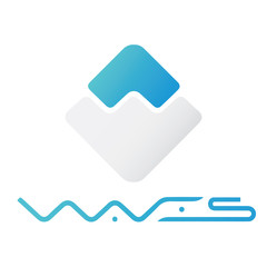 Waves coin icon, Crypto Currency, Vector