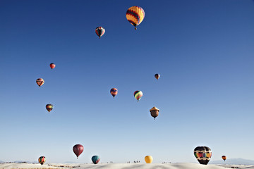 Balloon Fiesta on White Sands National Monument, September 19, 2010 in Alamogordo,New Mexico, USA