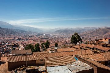 Cusco Skyline in the morning in Peru