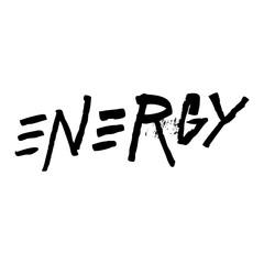 Energy, ink hand lettering. Grunge style brush calligraphy. Handwritten phrase