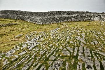 The karst landscape near Dun Aengus on Inis Mór Island, IRELAND