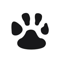 Paw vector icon black symbol on white background