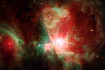 Awesome beautiful nebula somewhere in outer space.