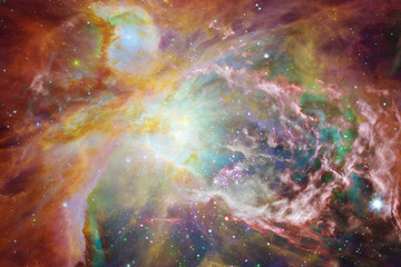Awesome colorful nebula somewhere in endless universe.