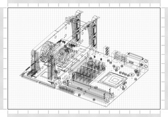 Motherboard and Graphic Cards Architect Blueprint