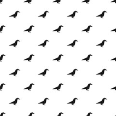 Origami raven pattern vector seamless repeating for any web design