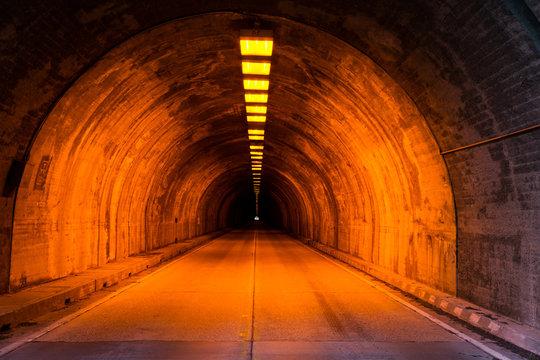 Underground Street Tunnel - Yosemite Tunnel, California USA