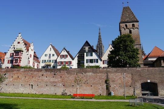 Stadtmauer am Metzgerturm in Ulm