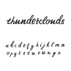 Cute handwritten font in lowercase. Calligraphic typeface