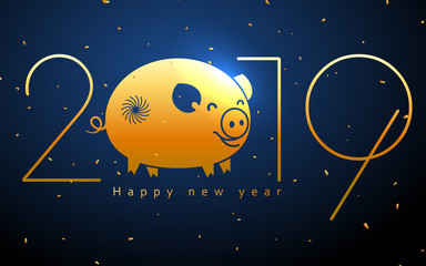 Chinese pig years background, can be used as a card design.