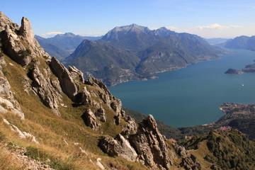 Alpenzauber am Lario / Blick vom Monte Grona hinunter zum Comer See