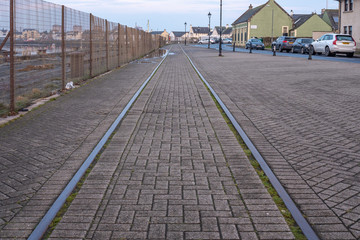 Harbour Street Irvine and the Old harbour Railway Lines Preserved