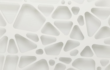 Abstract white 3d background, organic mesh.