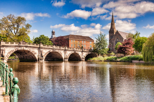 The English Bridge on the River Severn, Shrewsbury