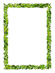 Christmas decorations with holly leaves and white berries. Vertical frame with copy space,