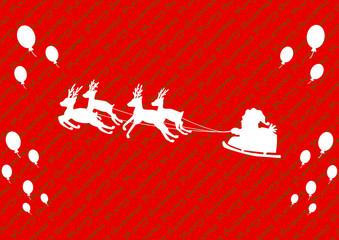 サンタクロース 風船 メリークリスマス背景