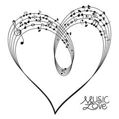 Musical Heart Shape