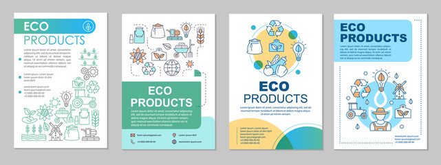 Eco products brochure template layout