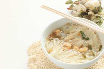 Vietnamese food, rice noodles