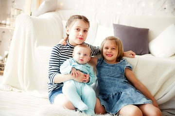 Three sisters of   same age