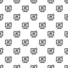 Computer virus detection pattern seamless repeat background for any web design