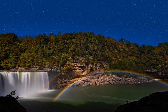 Moonbow At Cumberland Falls In Cumberland Falls State Park Near Corbin Kentucky