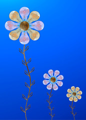 Lightbulbs as flower. God environment in company, research or school