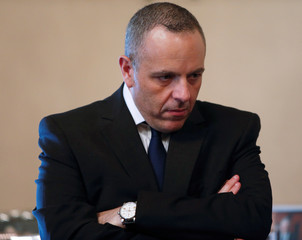 Keith Schembri, Chief of Staff in the office of Malta's Prime Minister Joseph Muscat, waits for official talks between Muscat and his Macedonian counterpart Zoran Zaev to begin at the Auberge de Castille in Valletta