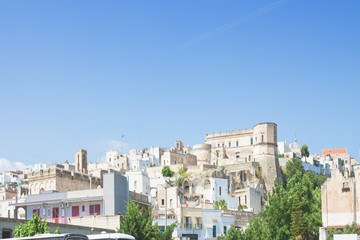 Massafra, Apulia - Skyline of the middle aged village in Italy