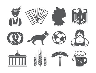 Germany icons set