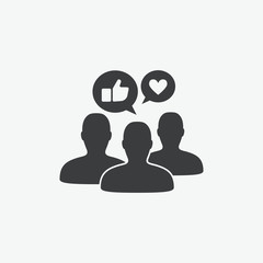 Social Media Brand Engagement Vector Icon