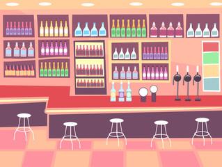 Interior Pub Scene Illustration