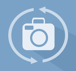 Camera 360 Icon Flat Illustration