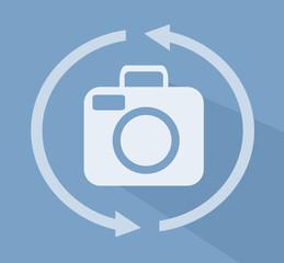 Camera 360 Icon Flat Illustration