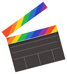 Clapper Board Lgbt Illustration