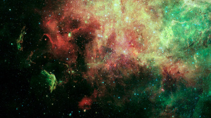 Galaxy and nebula in space. Elements of this image furnished by NASA.