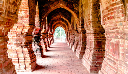 terracotta temples india Wall mural