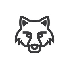 Fox head vector icon