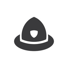Firefighter hat vector icon