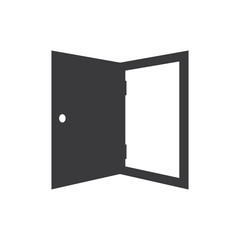 Exit door vector icon