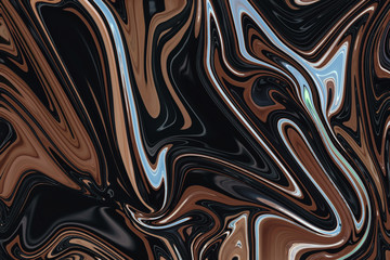 Chocolate background with liquify effect
