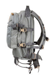 tactical backpack isolate on white